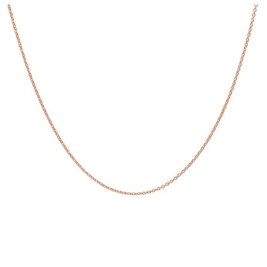 Rose Gold Plated Sterling Silver Adjustable Slider Necklace