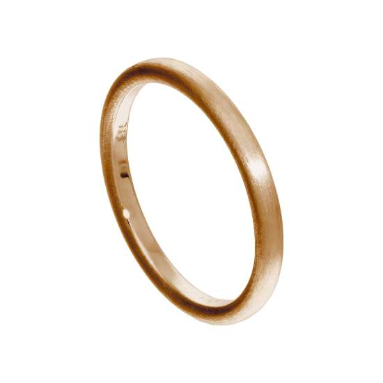 Small Rose Gold Plated Sterling Silver Matt Stacking Ring