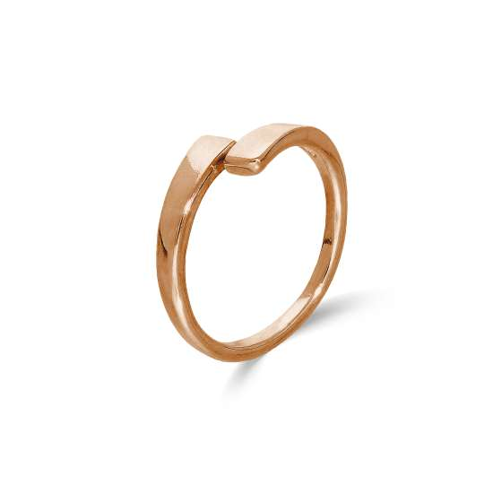 Rose Gold Plated Sterling Silver Adjustable Wrap Around Toe Ring
