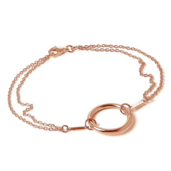 Rose Gold Plated Sterling Silver Karma Infinity Bracelet