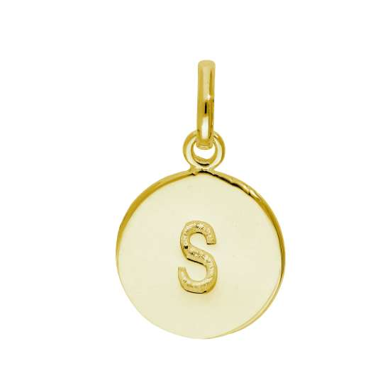 Gold Plated Sterling Silver Engravable Letter S Charm