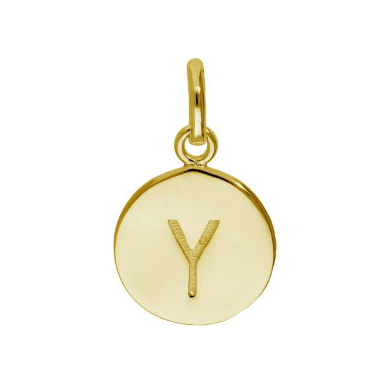 Gold Plated Sterling Silver Engravable Letter Y Charm