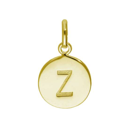 Gold Plated Sterling Silver Engravable Letter Z Charm