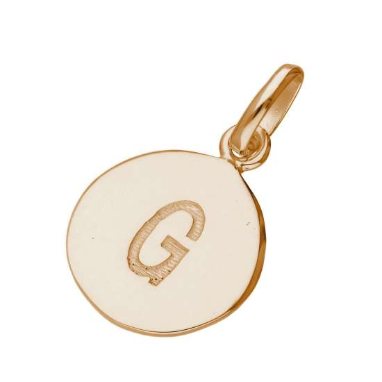 Rose Gold Plated Sterling Silver Engravable Letter G Charm