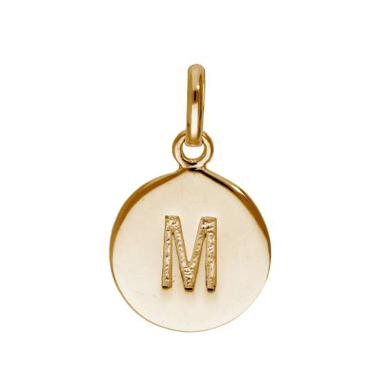 Rose Gold Plated Sterling Silver Engravable Letter M Charm