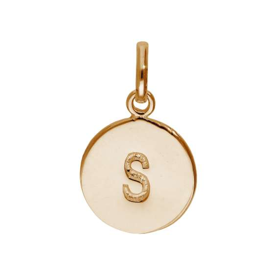 Rose Gold Plated Sterling Silver Engravable Letter S Charm