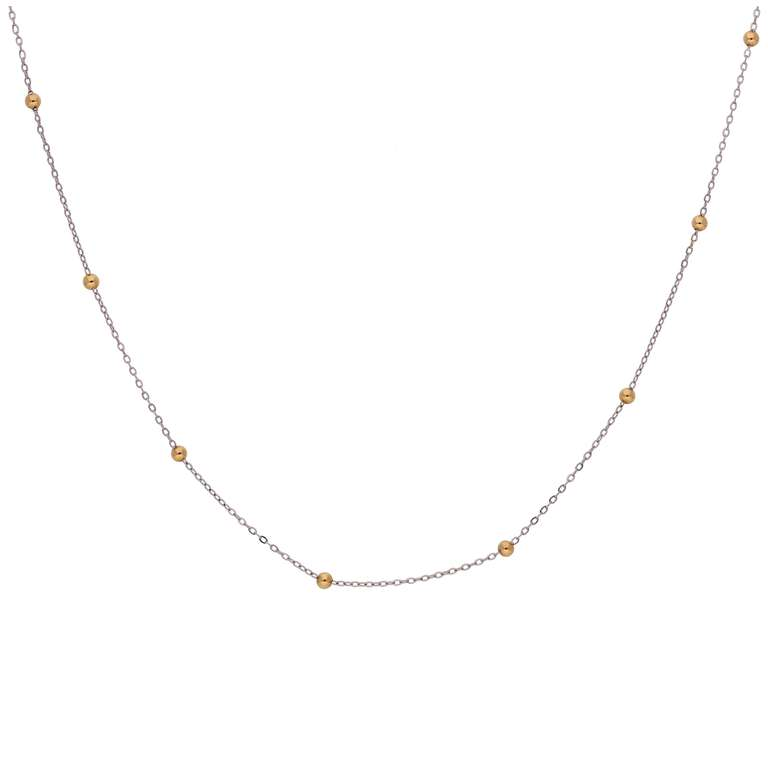 9ct Mixed Gold 18 Inch Satellite Chain Necklace