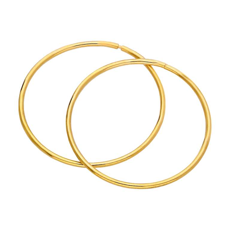 Gold Plated Sterling Silver Sleeper 22mm Hoop Earrings