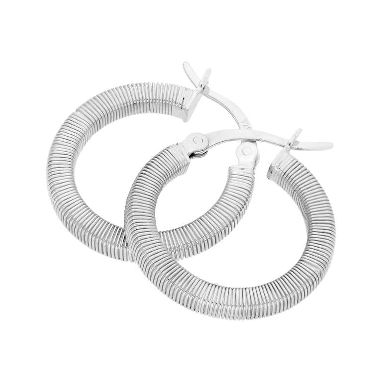 Sterling Silver Round Chunky Creole 20mm Hoop Earrings