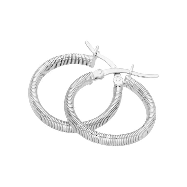 Sterling Silver Round Creole 20mm Hoop Earrings