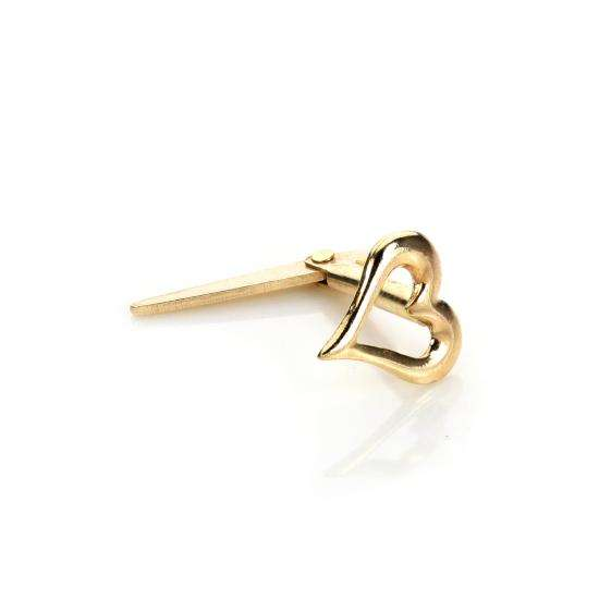 Andralok 9ct Yellow Gold Pierced Heart Nose Stud