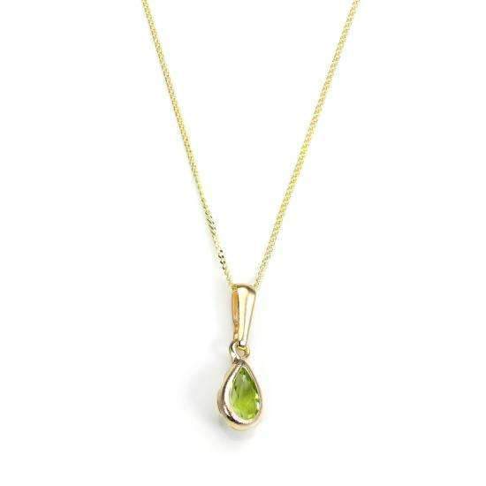 9ct Gold Peridot Gemstone August Birthstone Pendant