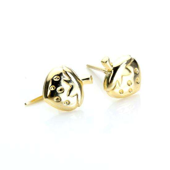 Andralok 9ct Yellow Gold Strawberry Stud Earrings