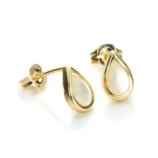 9ct Yellow Gold Pearl June Birthstone Stud Earrings