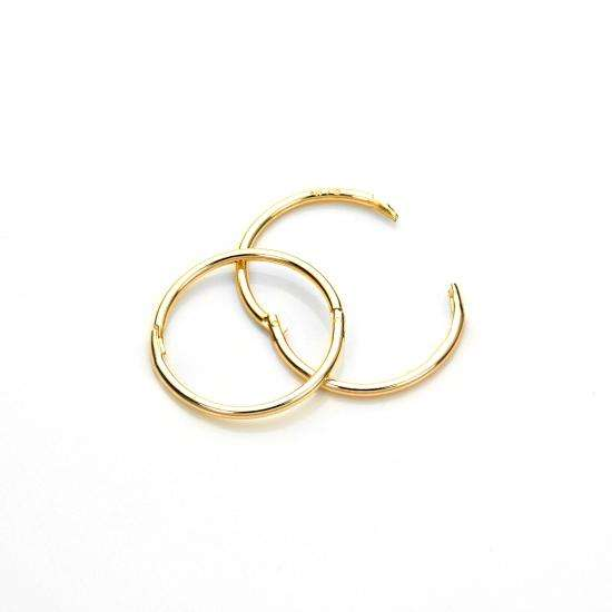 9ct Yellow Gold 13mm Plain Hoop Earrings