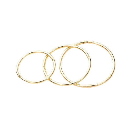9ct Yellow Gold Plain Hinged Hoop Earrings