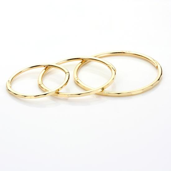 9ct Yellow Gold Faceted Hinged Hoop Earrings