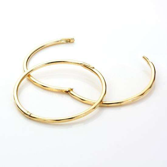 9ct Yellow Gold 19mm Faceted Hoop Earrings