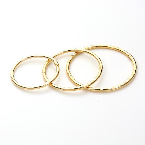 9ct Yellow Gold Diamond Cut Hinged Hoop Earrings