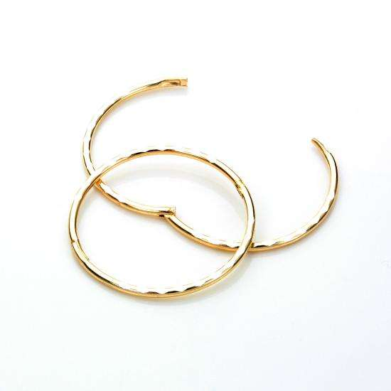 9ct Yellow Gold 19mm Diamond Cut Hinged Hoop Earrings