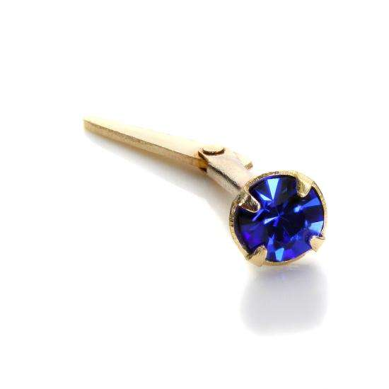 Andralok 9ct Yellow Gold Sapphire CZ 3mm Nose Stud