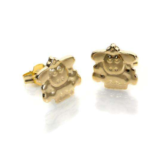 9ct Yellow Gold Sheep Stud Earrings