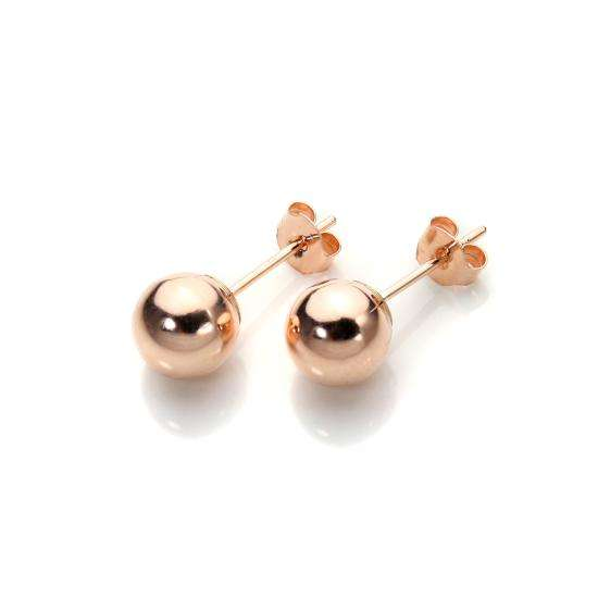 9ct Rose Gold 6mm Stud Earrings