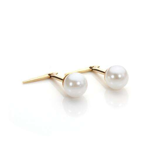 Andralok 9ct Yellow Gold Simulated Pearl 5mm Stud Earrings