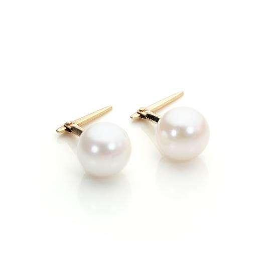 Andralok 9ct Yellow Gold Cultured Pearl 6mm Stud Earrings