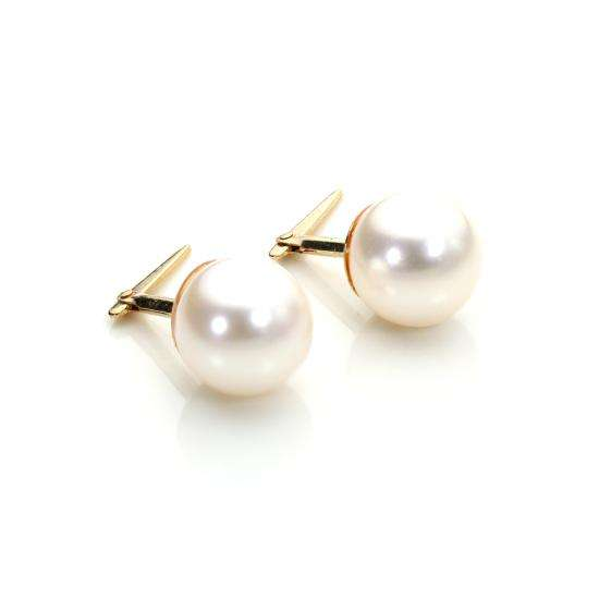 Andralok 9ct Yellow Gold Cultured Pearl 7mm Stud Earrings