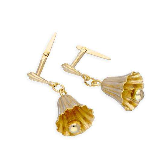 9ct Gold Ringing Bells Andralok Earrings