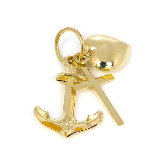 9ct Gold Hope Charity & Faith Charm
