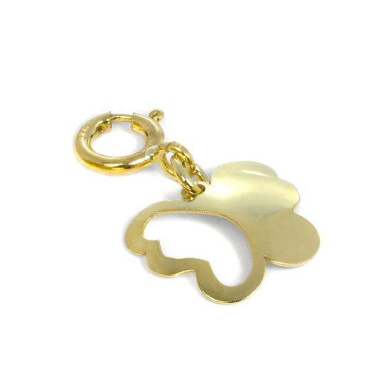 9ct Gold Butterfly Outline Clip on Charm
