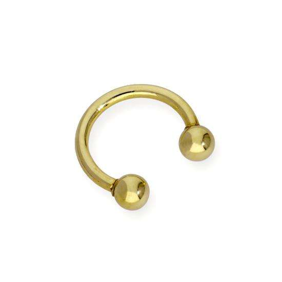 9ct Gold Ball End Horseshoe Septum Bar