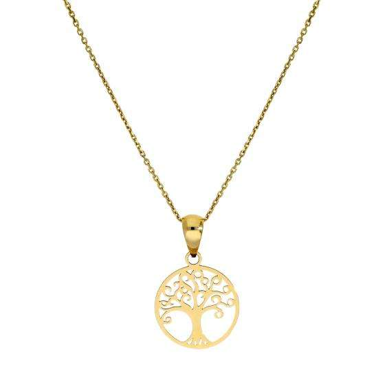 9ct Gold Tree of Life Pendant Necklace 16 - 20 Inches