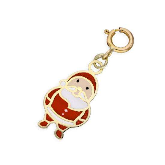 9ct Gold Santa Claus Clip on Charm