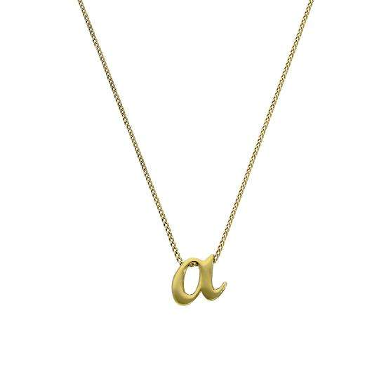 Tiny 9ct Gold Alphabet Letter A Pendant Necklace 16 - 20 Inches
