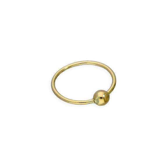 9ct Gold 8mm BCR Hoop Nose Ring 24Ga