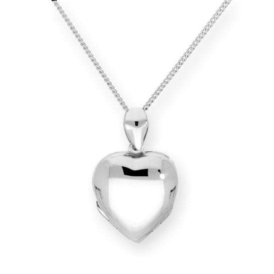 Sterling Silver 4 Photo Engravable Heart Family Locket on Chain 16 - 24 Inches