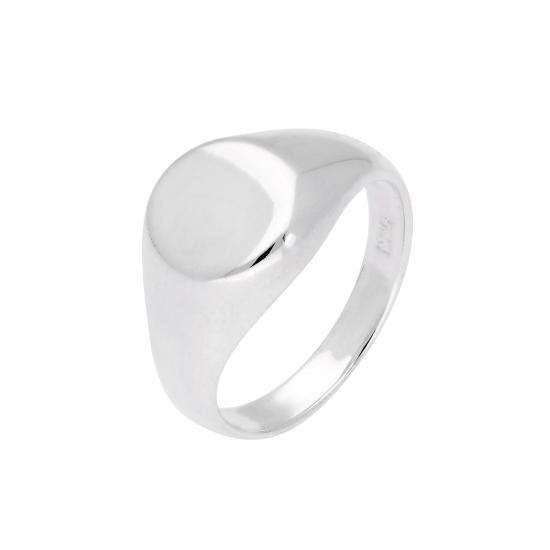 Sterling Silver Engravable Mens Signet Ring Size J - Z+1
