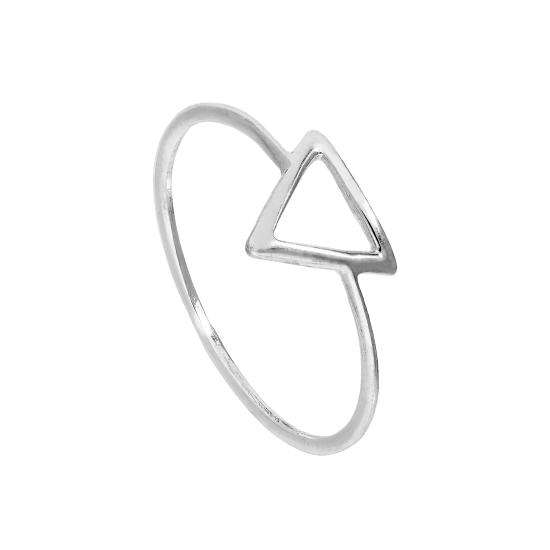 Sterling Silver Open Triangle Ring Sizes J - V