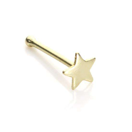 9ct Yellow Gold Star Nose Stud