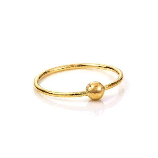 9ct Yellow Gold BCR Hoop Nose Ring - 8mm