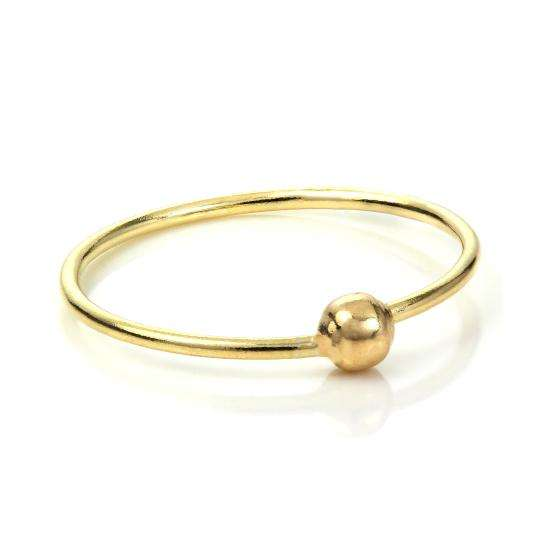 9ct Yellow Gold BCR Hoop Nose Ring - 10mm