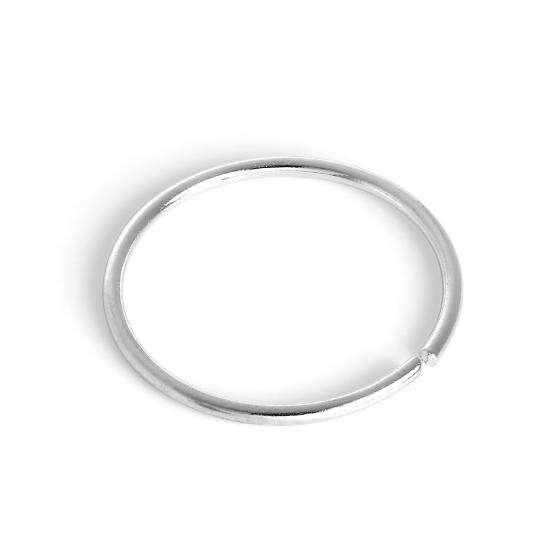 9ct White Gold 8mm Nose Hoop Ring