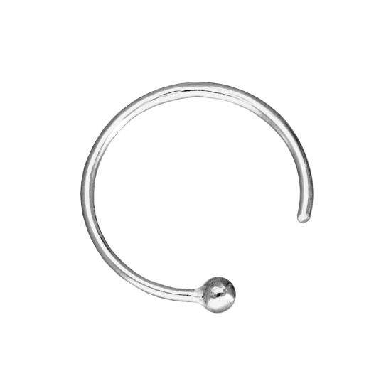 9ct White Gold Nose Ring