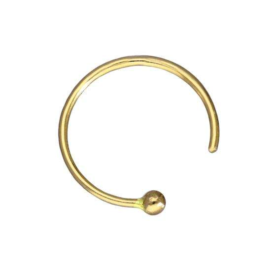 14ct Yellow Gold Nose Ring 24Ga