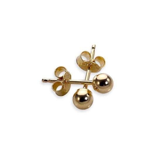 9ct Yellow Gold 3mm Ball Stud Earrings