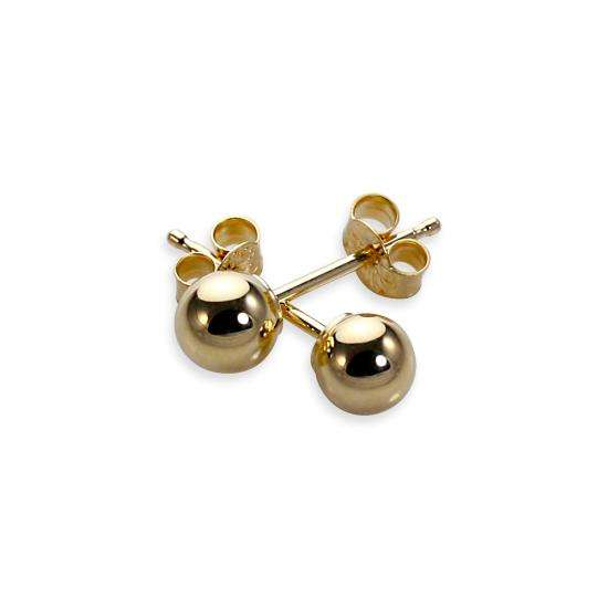 9ct Yellow Gold 4mm Ball Stud Earrings