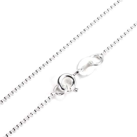 Sterling Silver 1mm Bead Chain